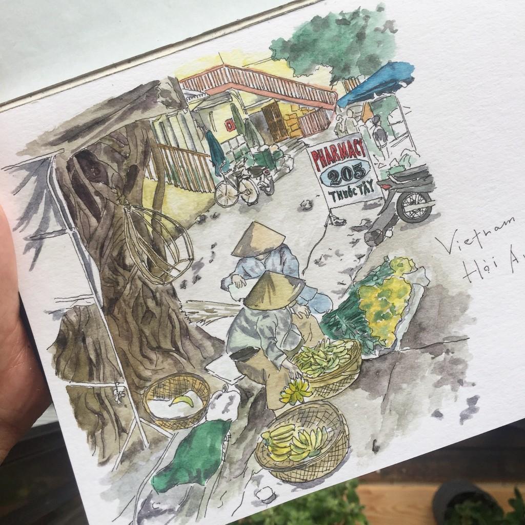 アーバンスケッチ ベトナム・ホイアン/ Urban Sketching in Vietnam Hoi An