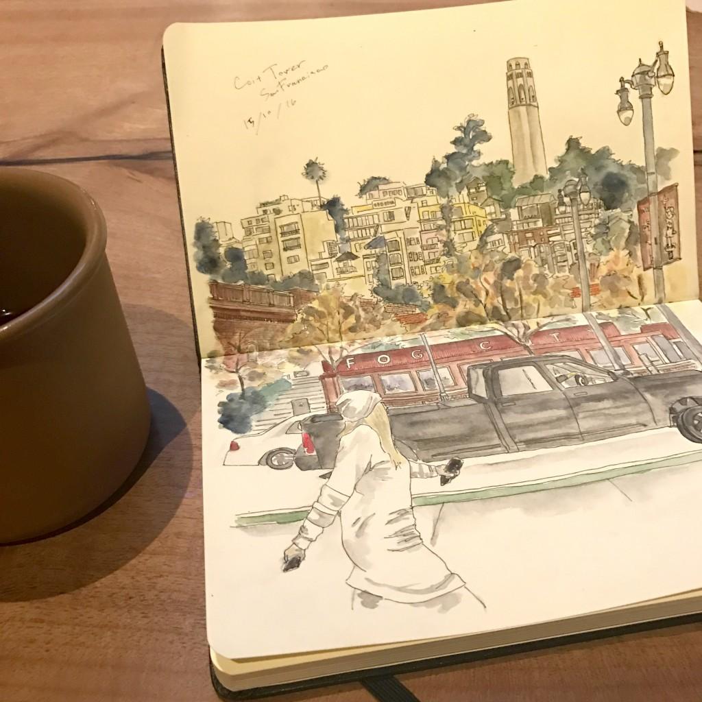 Urban Sketch in San Francisco / アーバンスケッチ サンフランシスコ